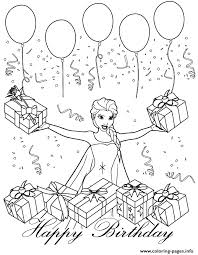 disney queen elsa bday colouring coloring pages printable