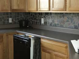 Small Kitchen Remodel Featuring Slate Tile Backsplash by Best 25 Slate Backsplash Ideas On Pinterest Stone Kitchen
