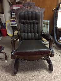 Horsehair Sofa Eastlake Platform Rocker Still With Its Original Horsehair