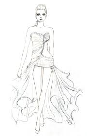 fashion design coloring pages free printable coloring pages 6155