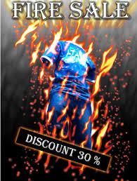membuat poster photoshop cs3 membuat poster fire sale dengan photoshop