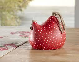 poule deco cuisine poules décoratives motif pois becquet