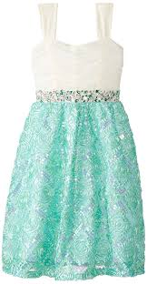 editions big mint and ivory dress