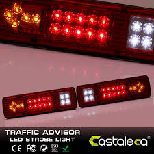 led tail lights for a trailer 1pair 12v 19 led tail lights turn stop reverse indicator l