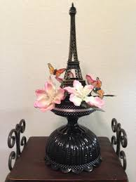 Eiffel Tower Decoration Eiffel Tower Centerpiece With Butterflies And Flowers For A Paris