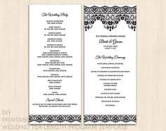Diy Wedding Programs Templates Sale Printable Custom Diy Wedding Program By Littlepaperlantern