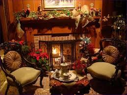 living room country mantel decor stone fireplace oak mantel