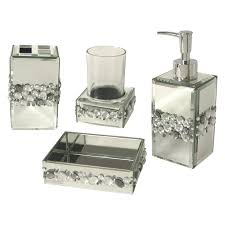 mirrored bathroom accessories sets inspiration bathroom