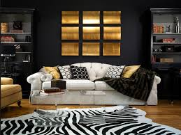 Living Room Ideas Gold Wallpaper Decorating With Black Black Gold White Living Room Black White