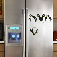 Wall Decals For Dining Room Aliexpress Com Buy Funny Penguin Kitchen Fridge Sticker Diy