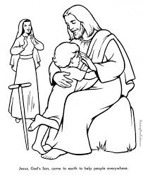 8 images of jesus healed people coloring pages printable bible