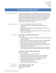 Art Teacher Resume Template Formidable Resumes For Experienced Teachers For Your Art Teacher
