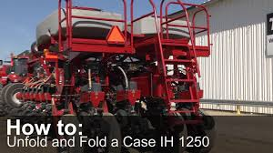 how to unfold and fold a case ih 1250 planter youtube