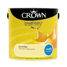 crown breatheasy sunrise matt emulsion paint 2 5l at homebase