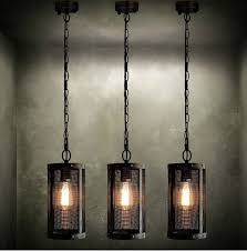 industrial hanging light fixtures nordic loft style metal mesh industrial vintage pendant light