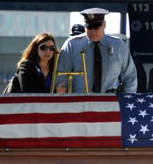 Fallen Officer Flag Emotional Memorial Service Held For Fallen Police Officer Weston