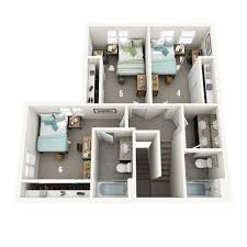 Home Floor Plan by Lincoln Townhomes Pt Housing And Residence Life