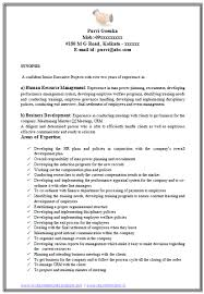 Human Resources Resume Samples by Professional Curriculum Vitae Resume Template For All Job
