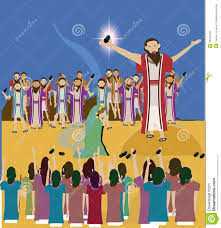 bible story jesus and the woman taken in adultery stock