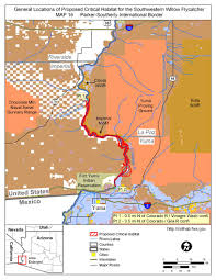 Yuma Arizona Map by Southwest Region Arizona Es Field Office