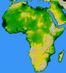 Africa On The Map by South Africa Map Elevation