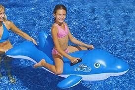 amazon pool floats 61 water sports inflatable rideon blue dolphin swimming pool float