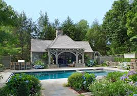 Pool House Douglas Vanderhorn Architects English Tudor Pool House Dock