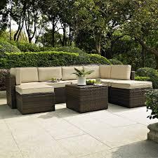 Deep Seating Wicker Patio Furniture - crosley furniture palm harbor 8 piece outdoor wicker seating set