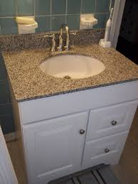 modern bathroom vanity height with single vessel sink and marble