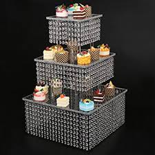 cupcake stand with led lights amazon com clear 3 tier cupcake stand with chandelier grade