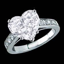 Wedding Rings Diamond by Engagement Ring Heart Shape Diamond Cathedral Engagement Ring