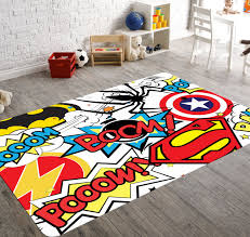 superhero rug playroom rug superhero room decor kids