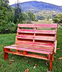 bench made out of pallets outdoor pallet bench