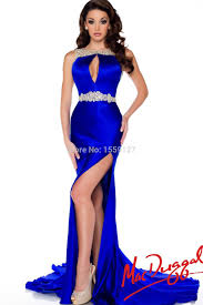 aliexpress com buy fashionable royal blue evening dress with