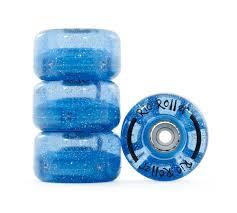 light up roller skate wheels rio roller flashing light up roller skate wheels glitter blue