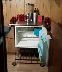 ge refrigerator bar cart made in italy il cugino of the partio