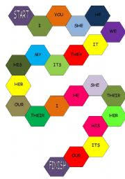 board game subject pronouns and possessive adjectives