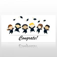 Congratulation Banner Childrens Congratulations Graduation Banner At Speedysigns Com