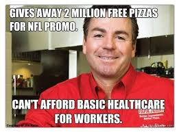 Anti Obamacare Meme - papa john s from anti rush lefty hero to anti obamacare lefty zero