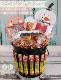 popcorn gift baskets pole gift basket gingerbread popcorn