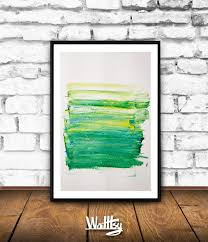 Abstract Home Decor Greenery Wall Decor Greenery Print Green Abstract Wall Art