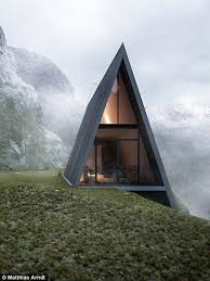 small a frame cabins this triangular house is beautiful and terrifying