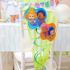 Chair Decorations Bubble Guppies Chair Decoration Diy Party City