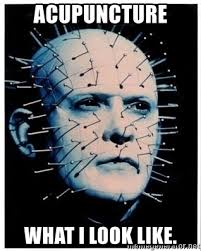 Acupuncture Meme - acupuncture what i look like hellraiser pinhead meme generator