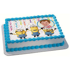 minions cake toppers cake toppers minion cake topper minions edible image frame