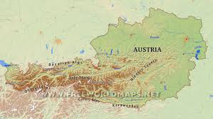 World Mountain Ranges Map by Austria Physical Map