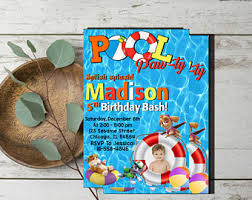paw pool invite etsy