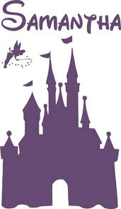 best 25 disney castle silhouette ideas on pinterest meeting in disney castle personalized name vinyl decal wall lettering words tinkerbell princess