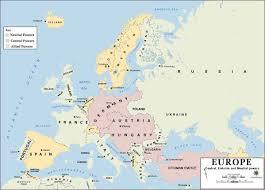 Cold War Europe Map by World War I Maps