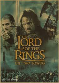 vintage the lord of the rings retro poster home decor wall sticker